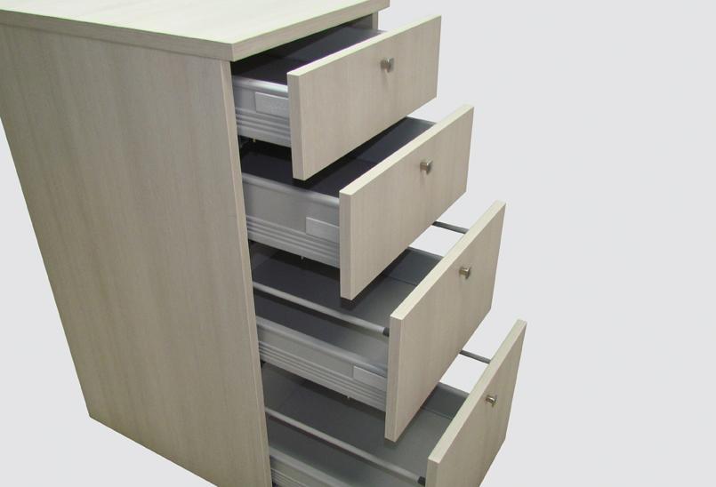 Sistema silenzioso guide a cassetto